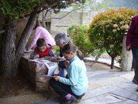 © © balade dans le vieux village avec fiches pédagogiques