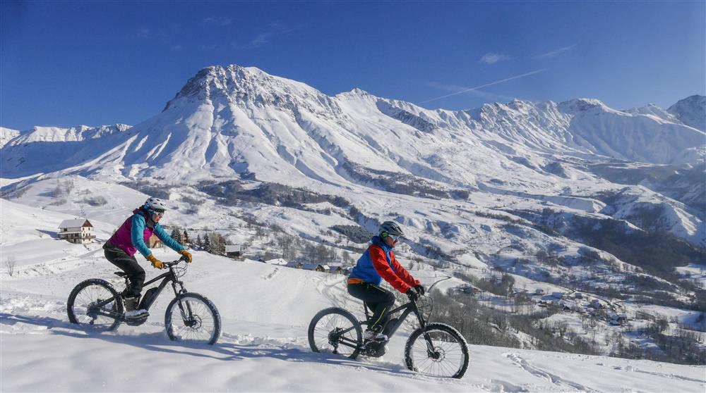 Fat Bike & E-Bike op sneeuw © Arvan VTT/Montagne