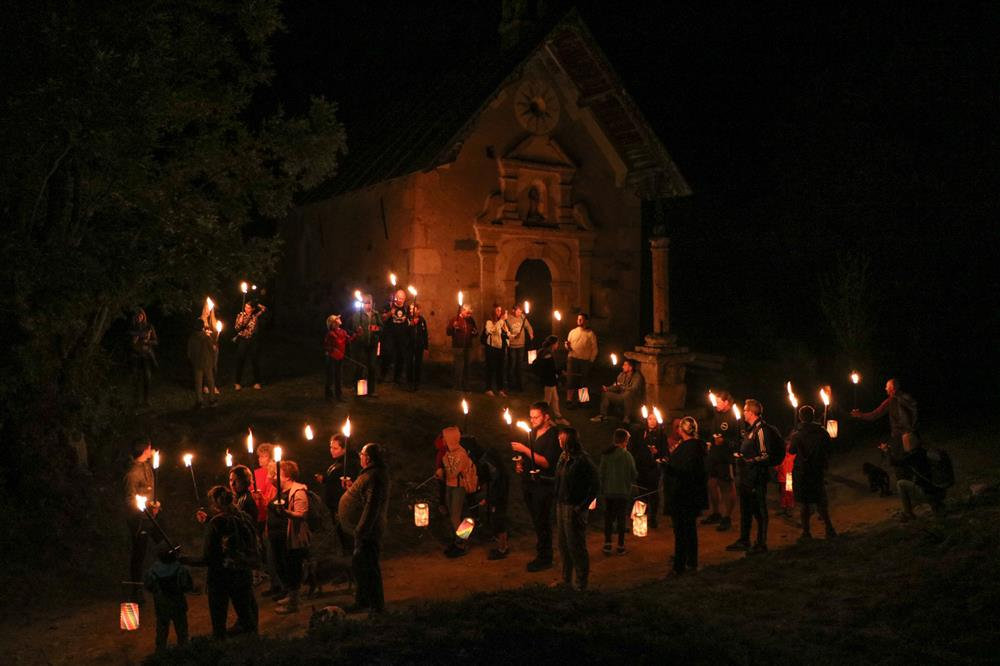 Torchlight walk with tale in french © © OT Saint Sorlin d'Arves - V Bellot-Mauroz