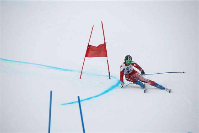 Compétition sur le stade de slalom de La Toussuire © OT