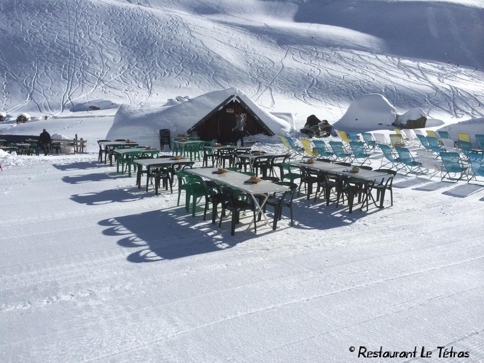 Restaurant d'altitude Le Tetras Saint Sorlin d'Arves - domaine des Sybelles © © Restaurant Le Tetras