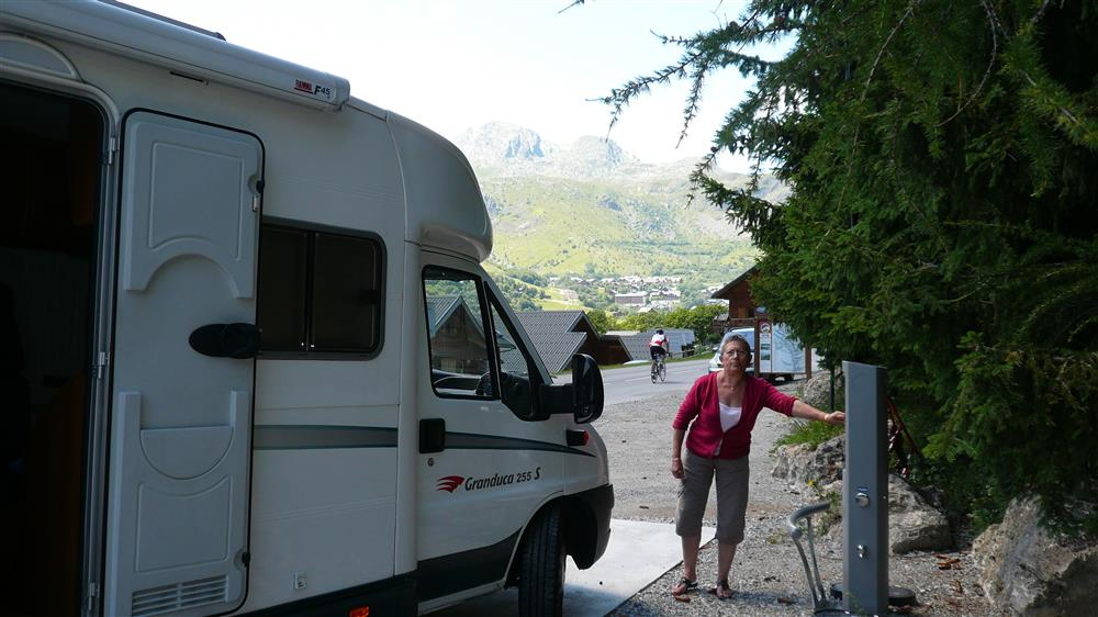 Terminal for camping-cars © © Office de Tourisme de Saint Sorlin d'Arve