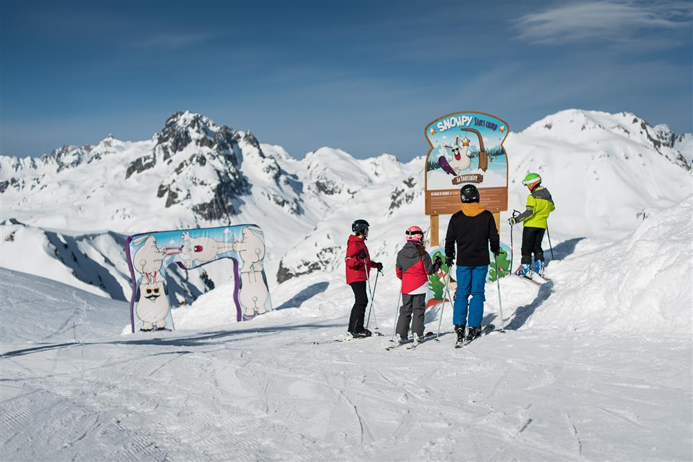 Départ de la zon  ludique Snowpy Mountain @LaToussuire © Alban Pernet