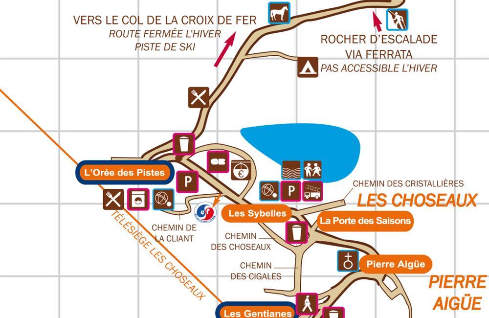 Plan laverie © Office de Tourisme Saint Sorlin d'Arves