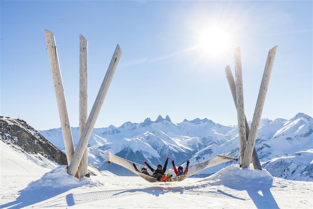 Hamac géant Les Sybelles © ©Tiphaine Buccino - Sybelles.ski