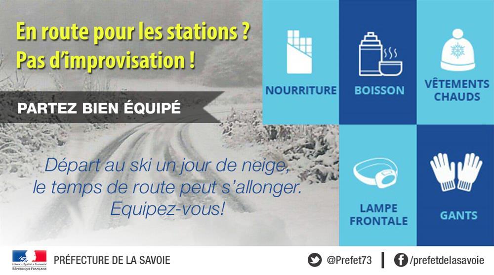 Infos routes et accès © Préfecture de la Savoie