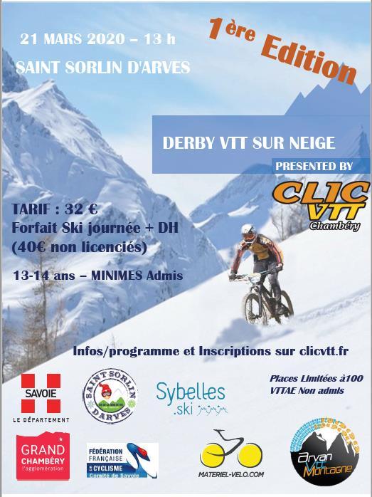Affiche Derby VTT © Clic VTT