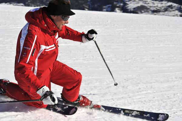 Telemark - Practice supervised © ESF Saint Sorlin d'Arves