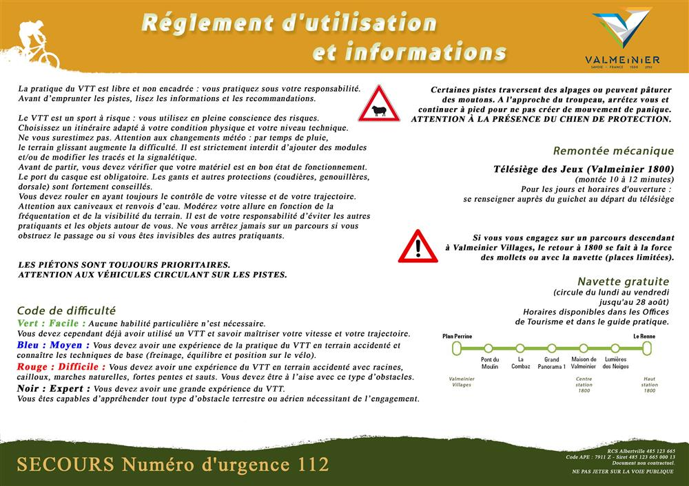 Réglements VTT