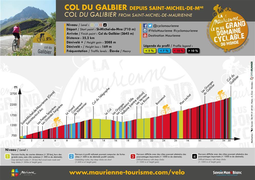 Col du Galibier depuis Saint Michel de Maurienne © © Alexandre Gros / Maurienne Tourisme