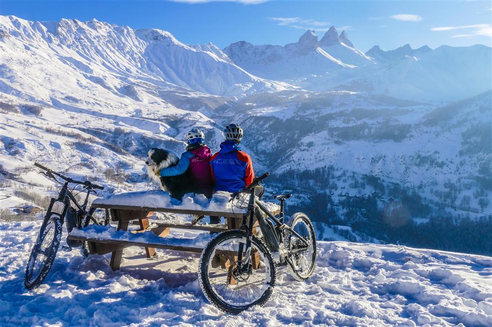 VTT électrique sur neige © Arvan VTT/Montagne