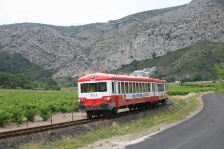 Le Train Rouge : Le Grand Parcours Rivesaltes  - Axat