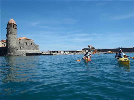Balade en Kayak découverte de la côte rocheuse, Collioure. 1 Adulte