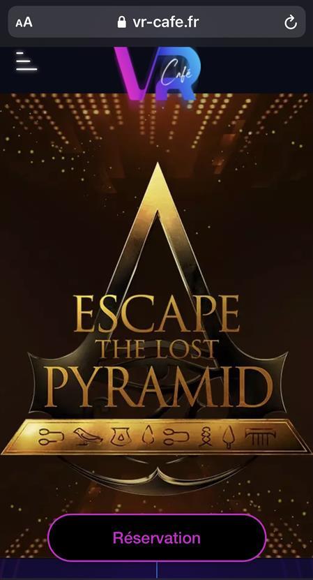 «THE LOST PYRAMIDE» ESCAPE GAME VIRTUEL